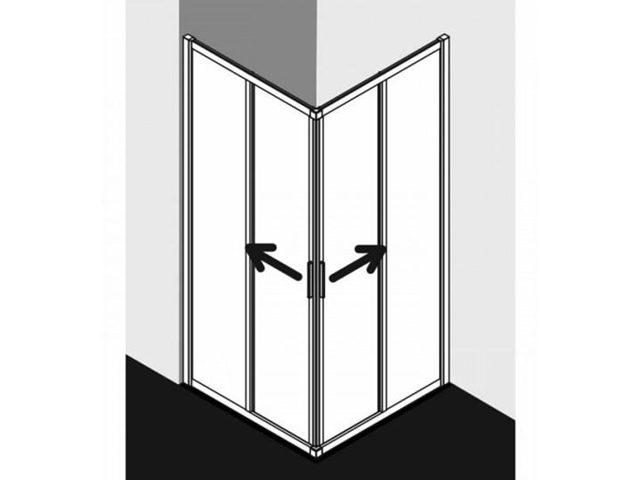 Kermi Cada XS kabina prysznicowa kwadratowa 100 cm CKE2R10020VPK+CKE2L10020VPK Kategoria Kabiny prysznicowe Przyścienna Rodzaj drzwi Rozsuwane