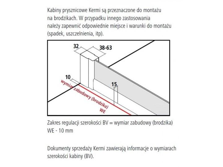 Kermi Cada XS kabina prysznicowa kwadratowa 100 cm CKE2R10020VPK+CKE2L10020VPK Przyścienna Rodzaj drzwi Rozsuwane