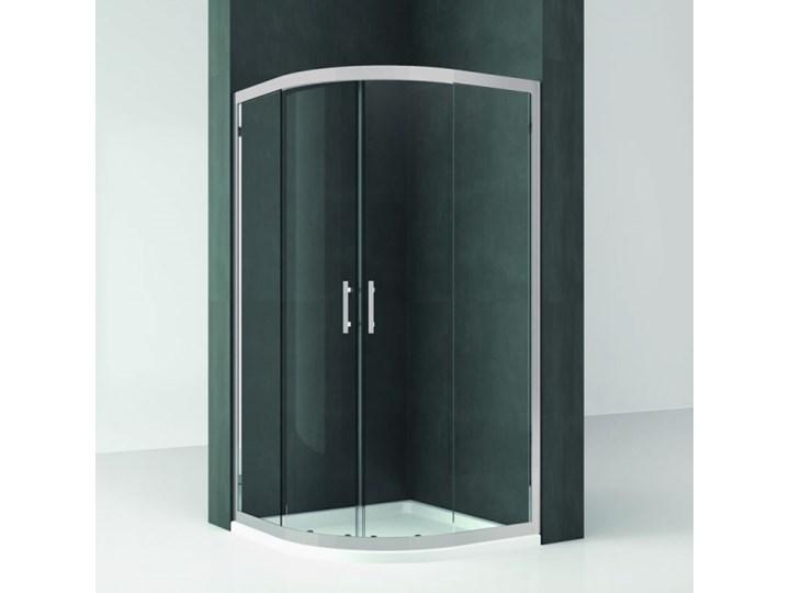 Novellini Kali R kabina prysznicowa półokrągła asymetryczna 80x90 cm KALIR80901B Wysokość 195 cm Narożna Rodzaj drzwi Rozsuwane Niestandardowa Kategoria Kabiny prysznicowe