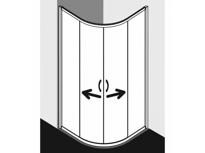 Kermi Acca kabina prysznicowa półokrągła 90 cm ACR5509019VPK Wysokość 190 cm Narożna Przyścienna Kategoria Kabiny prysznicowe