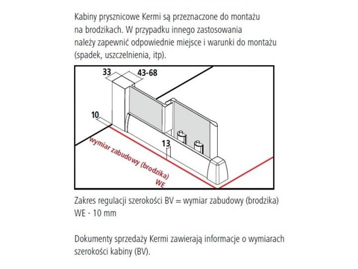 Kermi Acca kabina prysznicowa półokrągła 90 cm ACR5509019VPK Wysokość 190 cm Przyścienna Rodzaj drzwi Rozsuwane Narożna Kategoria Kabiny prysznicowe