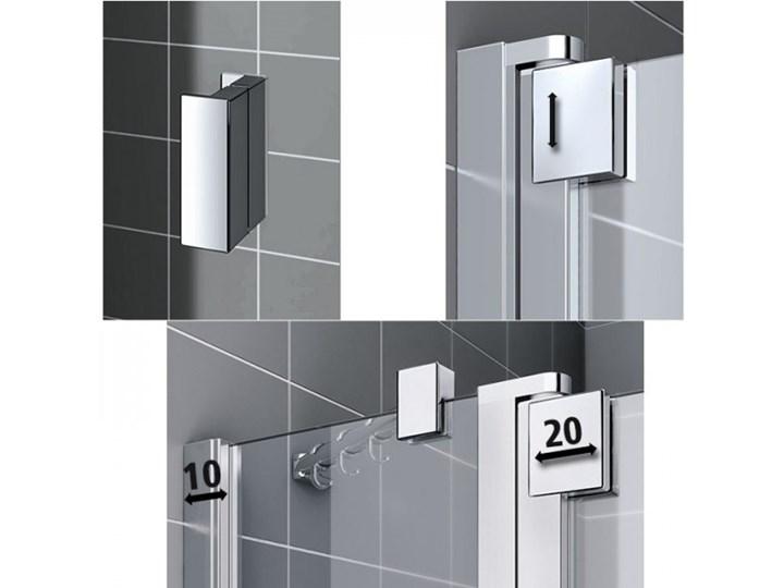 Kermi Raya kabina prysznicowa kwadratowa 80 cm prawa RA1KR08020VPK+RATOL08020VPK Przyścienna Kategoria Kabiny prysznicowe Rodzaj drzwi Uchylne