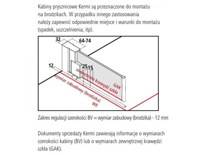 Kermi Raya kabina prysznicowa kwadratowa 80 cm prawa RA1KR08020VPK+RATOL08020VPK Przyścienna Rodzaj drzwi Uchylne Kategoria Kabiny prysznicowe