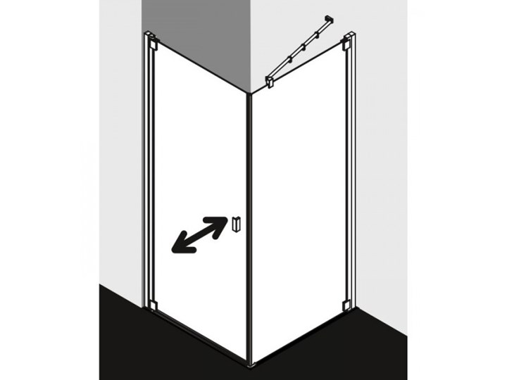 Kermi Raya kabina prysznicowa kwadratowa 90 cm lewa RA1KL09020VPK+RATOR09020VPK Przyścienna Kategoria Kabiny prysznicowe