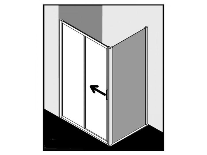 Kermi Cada XS kabina prysznicowa prostokątna 110x90 cm lewa CKG2L11020VPK+CKTWD09020VPK Przyścienna Rodzaj drzwi Rozsuwane