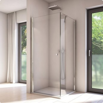 Sanswiss Solino kabina prysznicowa kwadratowa 90 cm SOL109005007+SOLT109005007