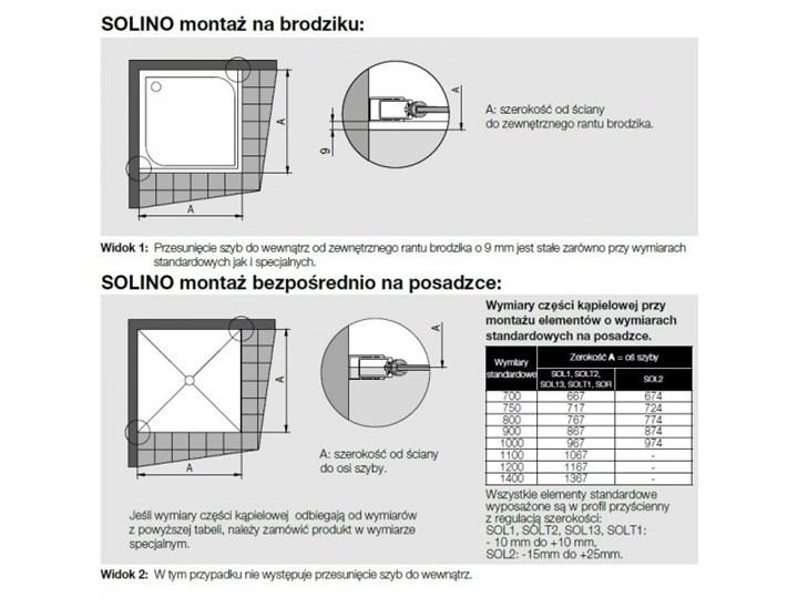 Sanswiss Solino kabina prysznicowa prostokątna 140x100 cm SOL3114005007+SOLT310005007 Przyścienna Narożna Kategoria Kabiny prysznicowe