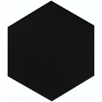 Egen Solid Black płytka podłogowa 21,5x25 cm