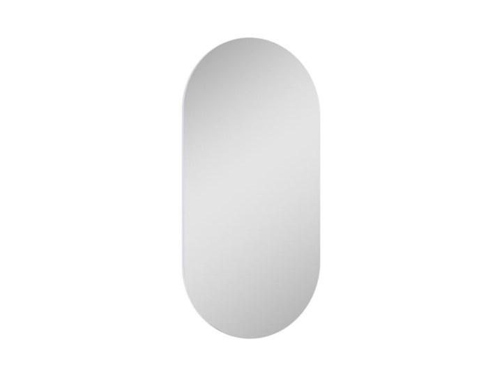 Elita Meble lustro owalne 50/100 cm 167567 Ścienne Kolor Szary Lustro bez ramy Kolor Srebrny