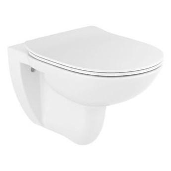 Roca Debba Round miska WC wisząca Rimless z deską WC wolnoopadającą Slim A34H992000