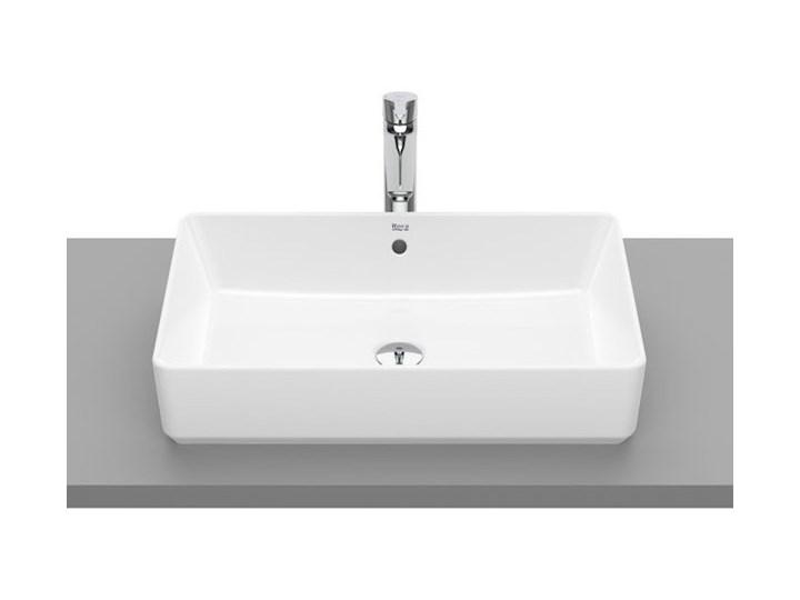 Roca Alter umywalka nablatowa prostokątna 60x37 cm Maxi Clean A3270Y200M Kategoria Umywalki Szkło Prostokątne Nablatowe Kolor Biały