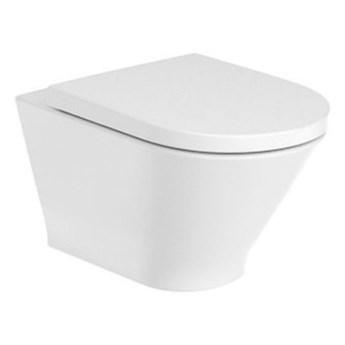 Roca Gap Round miska WC wisząca Rimless Maxi Clean A3460NL00M