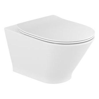 Roca Gap Round miska WC wisząca Rimless z deską WC wolnoopadającą Slim A34H0N8000