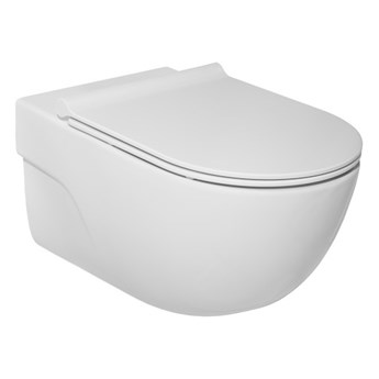 Roca Meridian miska WC wisząca Rimless z deską WC wolnoopadającą Slim A34H240000