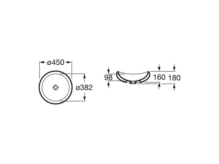 Roca Urbi 1 umywalka nablatowa okrągła 45 cm A327225000 Okrągłe Szkło Nablatowe Kategoria Umywalki