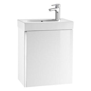 Roca Mini zestaw łazienkowy szafka + umywalka 45x25 cm biały połysk A855873806
