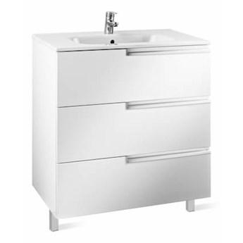 Roca Victoria-N Family Unik zestaw łazienkowy 70 cm z szufladami biały połysk A855838806