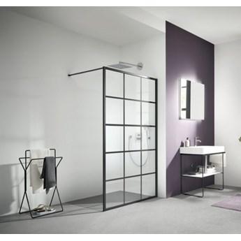 Kermi Walk-in XD ścianka wolnostojąca 100 cm czarny mat szkło/profile XDWW2100203PK