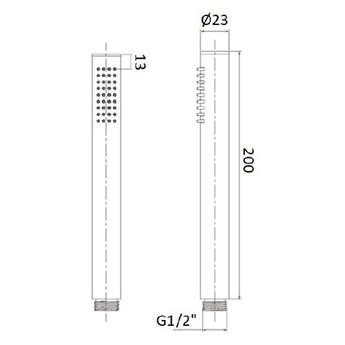 Vema Maira kompletny zestaw wannowy przelew 55 cm czarny mat MAIPRZ55/CZAR