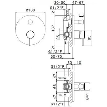 Vema Maira kompletny zestaw wannowy przelew 80 cm czarny mat MAIPRZ80/CZAR