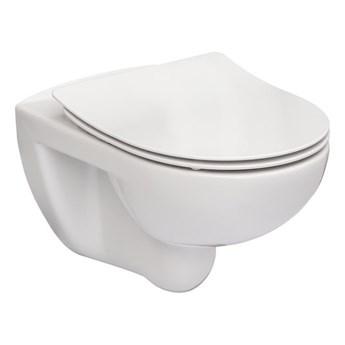 Roca Victoria miska WC wisząca Rimless z deską wolnoopadającą Slim A34H398000