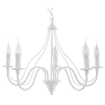 SOLLUX Klasyczna Żyrandol Świecznikowy MINERWA 5 Biały Lampa Wisząca