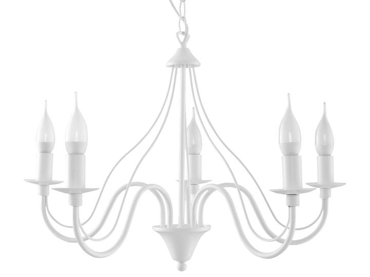 SOLLUX Klasyczna Lampa Wisząca Świece Żyrandol MINERWA 5 Biały Stal Metal Styl Vintage