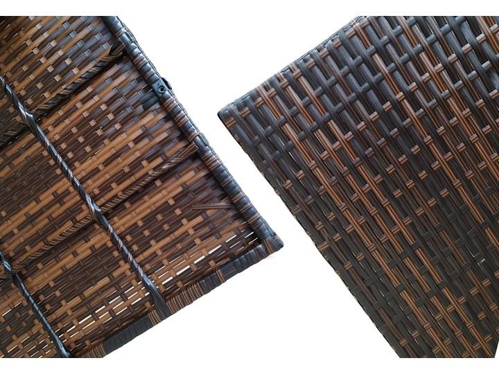 Meble ogrodowe technorattan - 1092 BRĄZ - dla 9 osób Zestawy wypoczynkowe Drewno Zawartość zestawu Narożnik