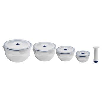 Zestaw 4 pojemników na żywność i pompki próżniowej Compactor Food Saver