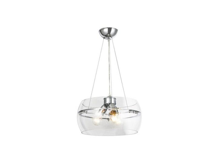 Salony Agata  Lampa wisząca MERANO RLD931031-3 Chrom Metal Lampa z kloszem Szkło Kategoria Lampy wiszące
