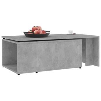 vidaXL Stolik kawowy, szarość betonu, 150x50x35 cm, płyta wiórowa