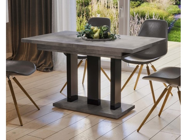 Stół Appia 210 rozkładany od 130 do 210 cm noga czarny połysk Styl Nowoczesny
