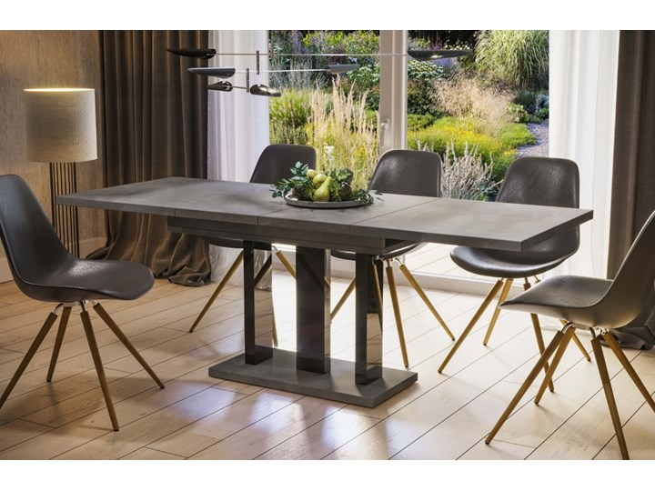 Stół Appia 210 rozkładany od 130 do 210 cm noga czarny połysk Pomieszczenie Stoły do jadalni