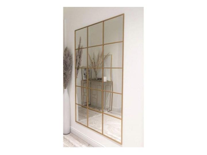 Lustro loft ze szprosami złote ANNA 12 kwater, Dostępne wymiary: 40x140