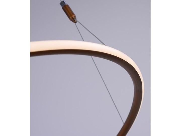 MCODO ::  Nowoczesna lampa sufitowa led Milano w kolorze miedzianym o mocy 40W 4000K Tworzywo sztuczne Metal Pomieszczenie Jadalnia Styl Klasyczny