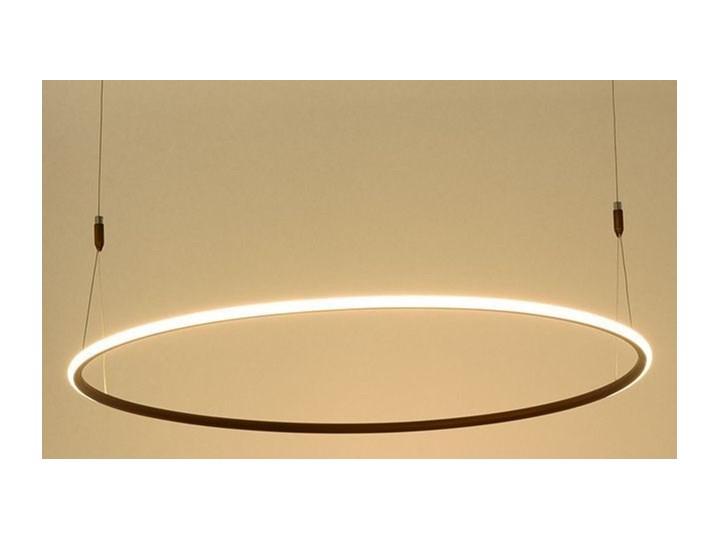 MCODO ::  Nowoczesna lampa sufitowa led Milano w kolorze miedzianym o mocy 40W 4000K Metal Pomieszczenie Jadalnia Tworzywo sztuczne Kategoria Lampy wiszące