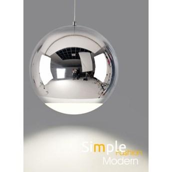 MCODO ::  Chromowana metalowa lampa wisząca led Globo o mocy 12W