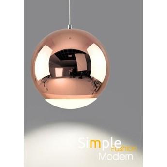 MCODO ::  Nowoczesna lampa led Globo w kolorze miedzianym 12W