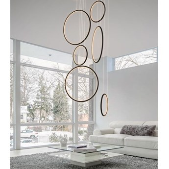 MCODO ::  Designerska lampa led LEDVISION H czarna 130W z ciepłą barwą 3000K
