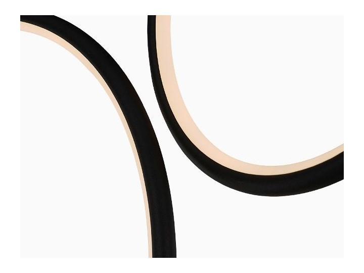 MCODO ::  Designerska lampa led LEDVISION H czarna 130W z ciepłą barwą 3000K Lampa z kloszem Tworzywo sztuczne Styl Nowoczesny