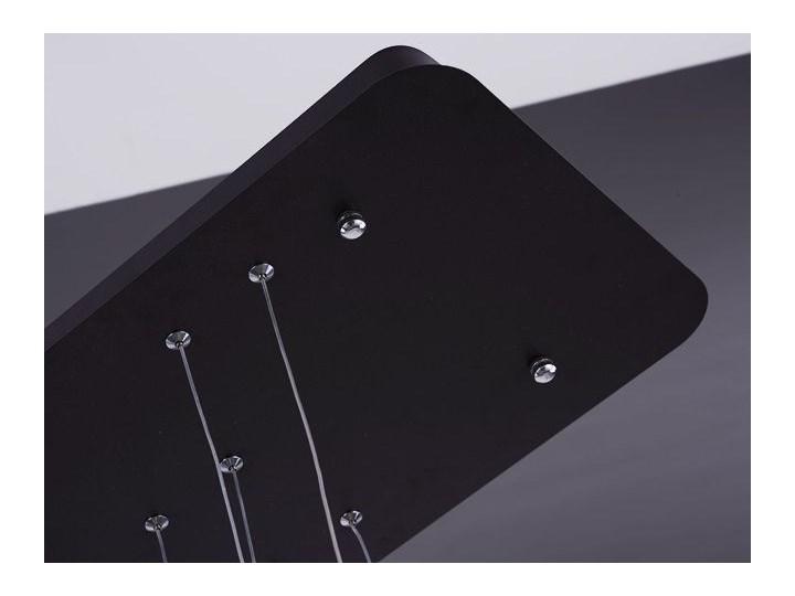 MCODO ::  Designerska lampa led LEDVISION H czarna 130W z ciepłą barwą 3000K Tworzywo sztuczne Lampa z kloszem Kolor Czarny Styl Nowoczesny