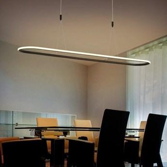 MCODO ::  Nowoczesna lampa led Luce di Vicolo 120cm czarna 52W z ciepłą barwą 3000K