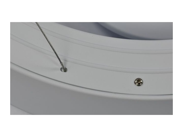 MCODO ::  Ultranowoczesna lampa led  Orbit rp2  barwa ciepła 3000K Kategoria Lampy wiszące Tworzywo sztuczne Metal Lampa inspirowana Kolor Biały