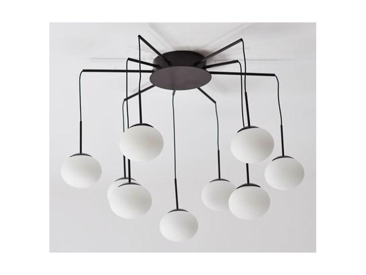 MCODO ::  Klimatyczna lampa led Adele o mocy 40W z ciepłą barwą 3000K Lampa z kloszem Szkło Kolor Czarny
