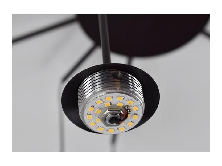 MCODO ::  Klimatyczna lampa led Adele o mocy 40W z ciepłą barwą 3000K Szkło Lampa z kloszem Kolor Czarny