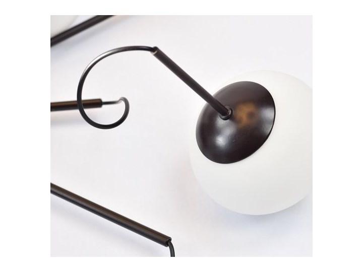 MCODO ::  Klimatyczna lampa led Adele o mocy 40W z ciepłą barwą 3000K Szkło Kolor Czarny Lampa z kloszem Kategoria Lampy wiszące