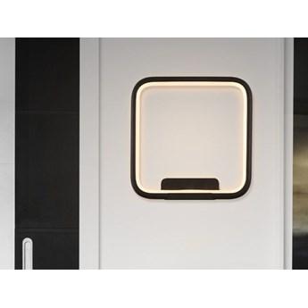 MCODO ::  Designerski kinkiet led Pista Illuminata SQ 20cm czarny 13W z barwą ciepłą 3000K