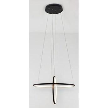 MCODO ::  Designerska lampa led Galaxy T czarna 53W z ciepłą barwą 3000K