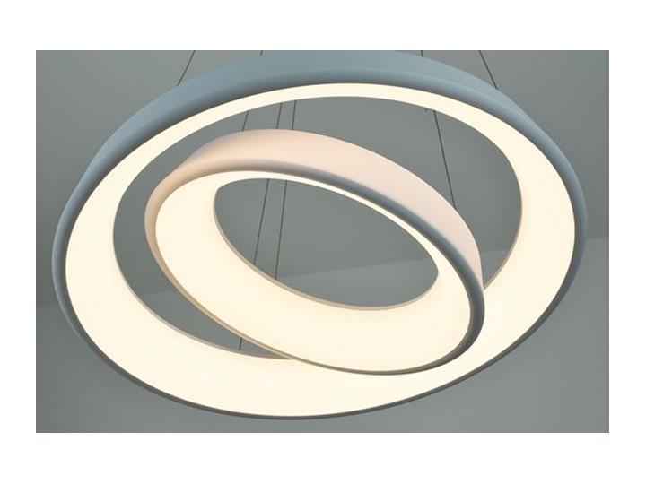 MCODO ::  Ultranowoczesna lampa led  Orbit rp2  barwa ciepła 3000K Ilość źródeł światła 2 źródła Lampa inspirowana Tworzywo sztuczne Metal Kolor Biały