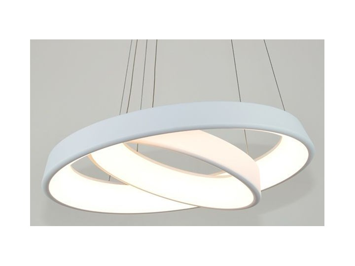 MCODO ::  Ultranowoczesna lampa led  Orbit rp2  barwa ciepła 3000K Tworzywo sztuczne Lampa inspirowana Metal Kolor Biały